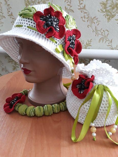 Шапочка (шапка, шляпка, панамка, беретик) весна (лето) для девочки