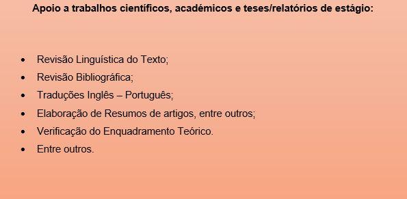Auxílio em Trabalhos científicos e académicos