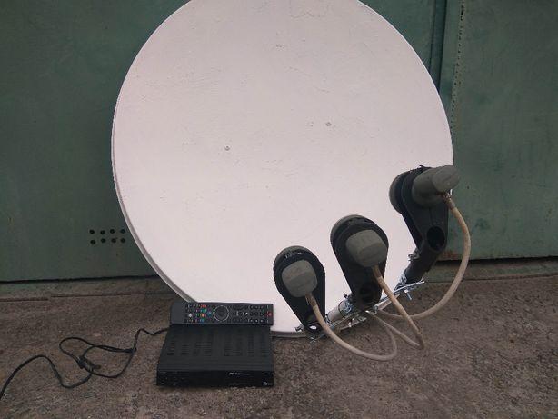 Продам антену супутникову та тюнер все робоче