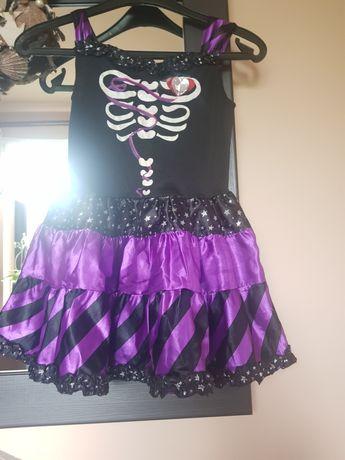 Halloween czarno -fioletowa rozm 7-8 lat