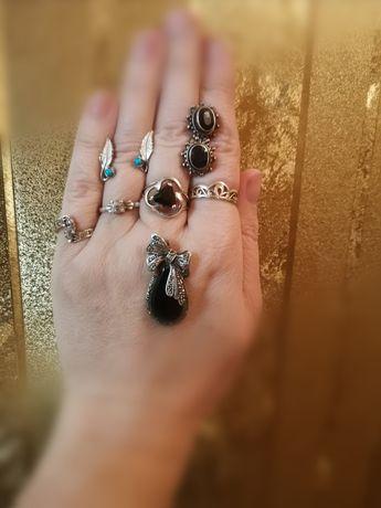 Кольцо серебряное серьги гвоздики пусеты пирсинг
