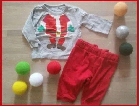 68 komplet ZARA PEPCO spodnie koszulka ubranko świąteczne bluzka