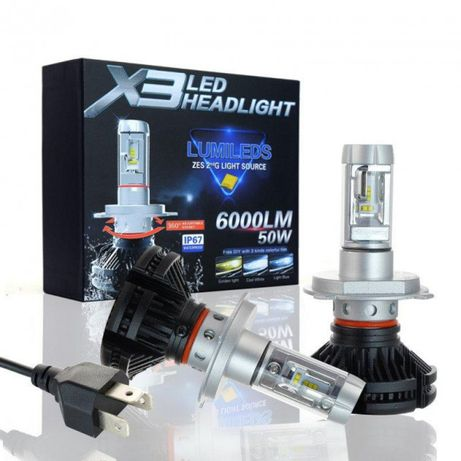 Светодиодные лампы Turboled X3 Цоколь: H11, H7, H1, H3, H4