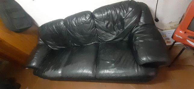 sofas Pele preto