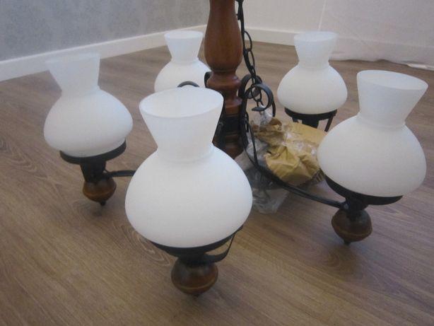 Lampa Petronel 5-punktowa prowansalska, rustykalna