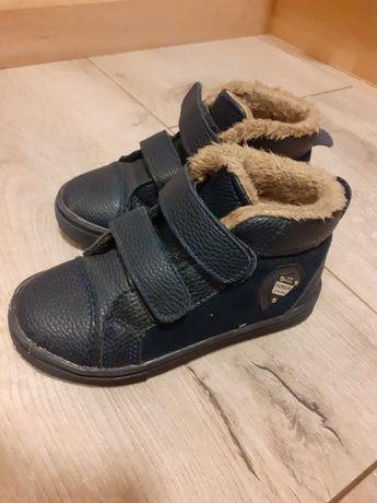 Buty chłopięce, granatowe, jesienno-zimowy, R.26, rzepy