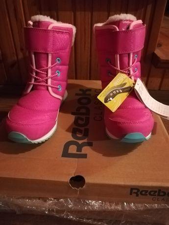 Kozaki, buty zimowe dziewczęce Reebok classic