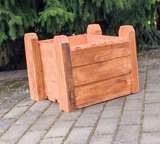 Donica doniczka drewniana ogrodowa tarasowa skrzynka skrzynia