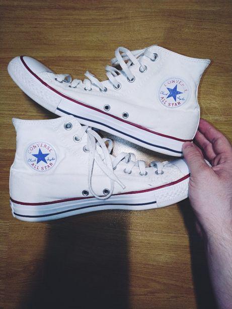 Białe wysokie converse