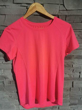Różowa koszulka sportowa damska