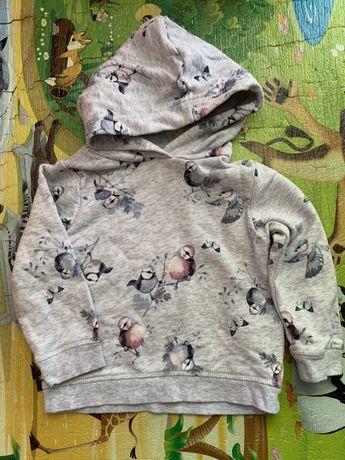 Свитшот, свитер, кофта для девочки H&M 18-24 мес, будет на дольше