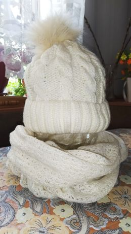 Шапка шарф зима.