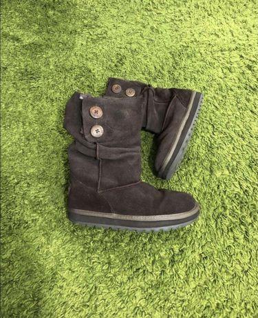 Американские ботинки угги натуральная кожа черевики зима skechers 38