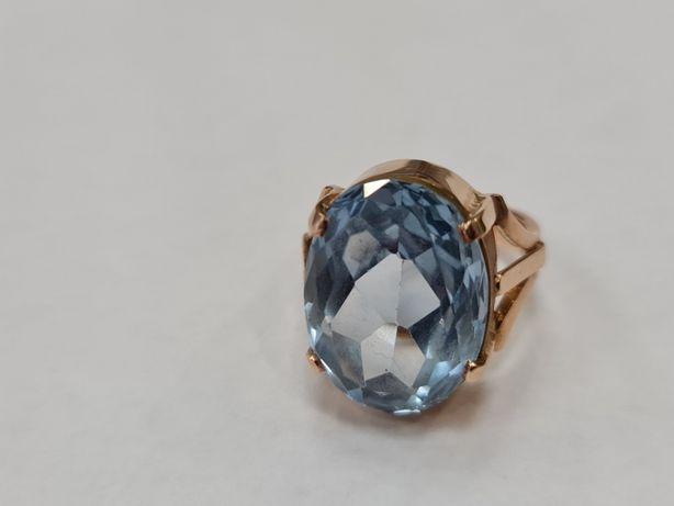 Ręcznie robiony złoty pierścionek damski/ 585/ 14.08 gram/ R19