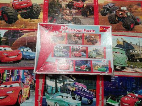 Puzzle Zugzak i McQueen 9 obrazków