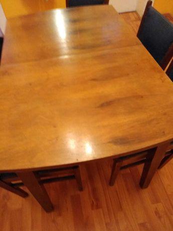 Sprzedam stół i 6 krzeseł tapicerowanych w stylu PRL