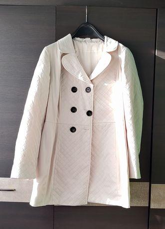 Płaszcz wiosenny 46 kremowy