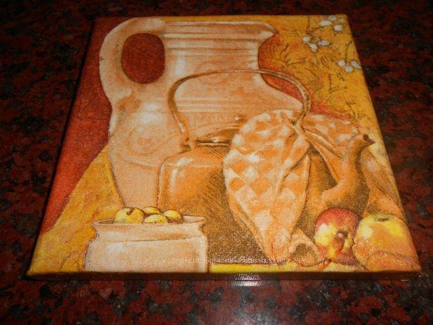 Quadro / Tela de Cozinha - Chaleira (feita à mão) NOVA - Baratíssima