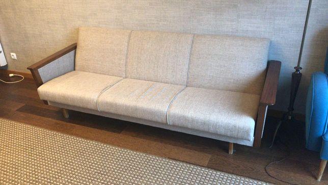 Sofá-cama Dinamarquês Original com 3 lugares em tecido