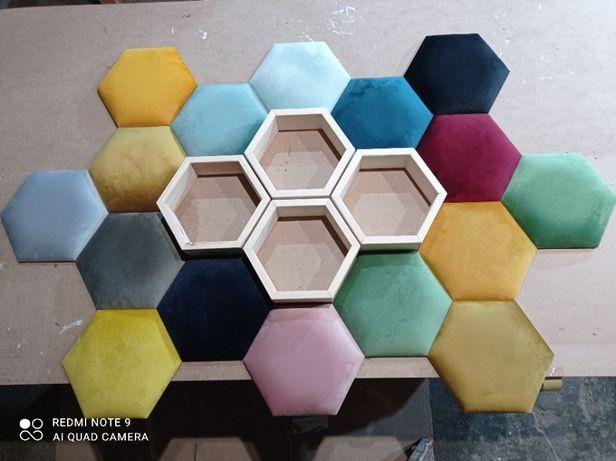 Heksagon Panele ścienne tapicerowane sypialnie na wymiar dla dzieci