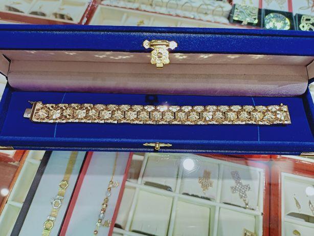 Złota bransoletka 32,4 g. Pr. 750