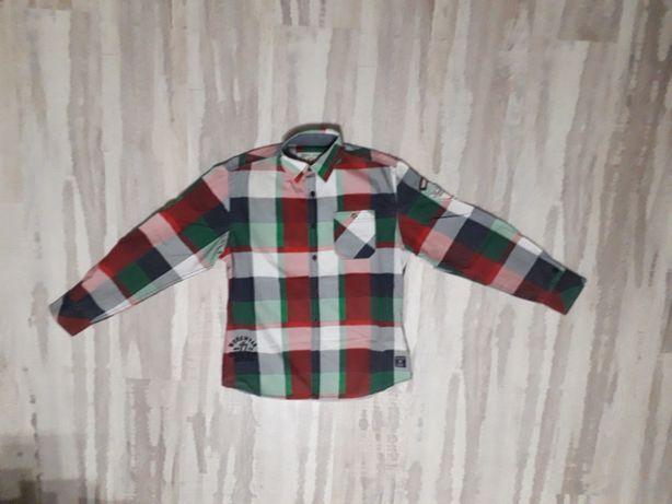 Рубашка в клеточку на подростка 164/170