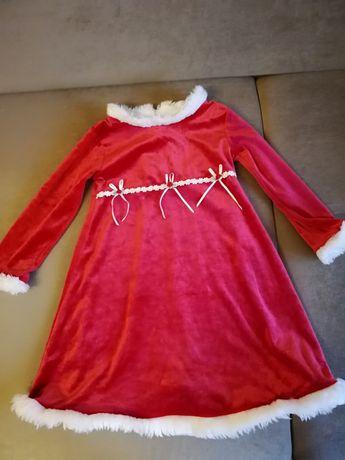 Przebranie Sukieneczka śnieżynka Mikołaj rozm104