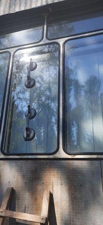 Броварський балкон.стекло в резинке.замена стекла в броварском окне.