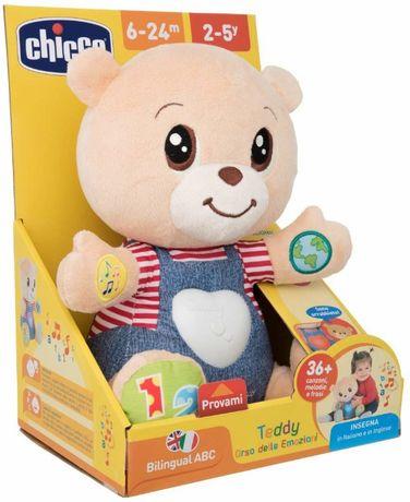 Chicco, Teddy, Miś okazujący uczucia, dwujęzykowa zabawka edukacyjna