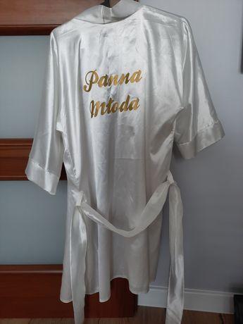 Szlafrok Panna Młoda,  szlafrok na ślub.