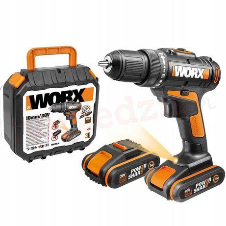 Wiertarko - wkrętarka WORX WX101.1 20V 2x 1,5Ah walizka NOWA Polecam