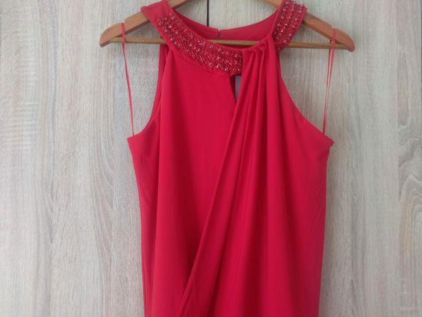 Nowy elegancki, czerwony kombinezon firmy Orsay na wesele r 38