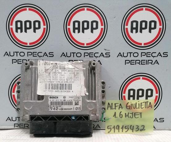 Centralina Alfa Romeu Giulietta 1.6 MJET referência 51915432.