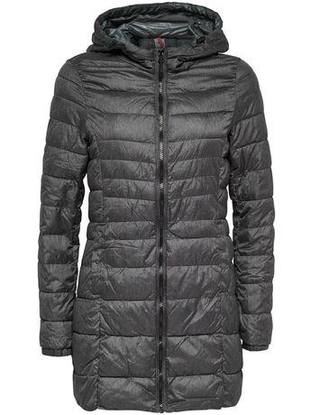 Удлинённая куртка ONLY демисезонная пальто стеганное серая М 44-46