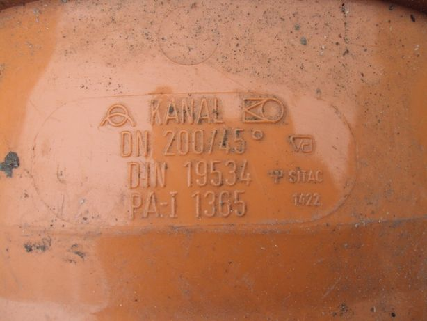 Kolano PVC 200 45 Stopni
