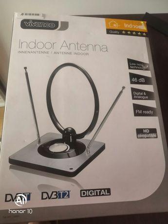 Antena aktywna pokojowa DVB-T, DVB-T2, DAB+, FM
