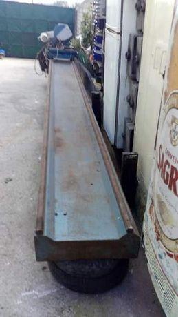Barramento 6 metros com máquina pneumática de corte automático