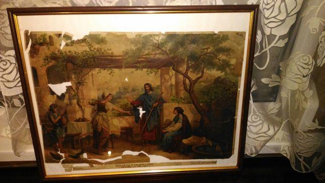 Старинная картина 1897 год антиквариат