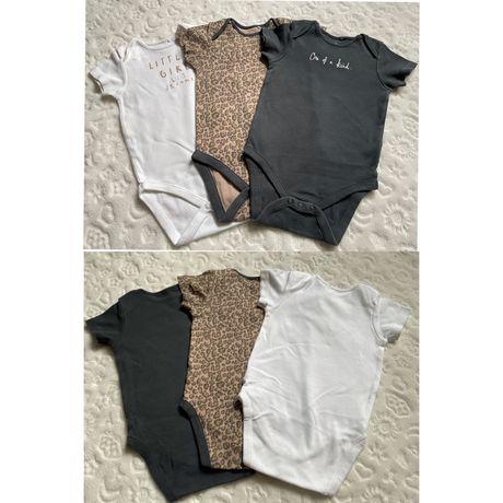Next, 9-12 месяцев, Бодик, лосины, песочник, платье, шорты, футболка