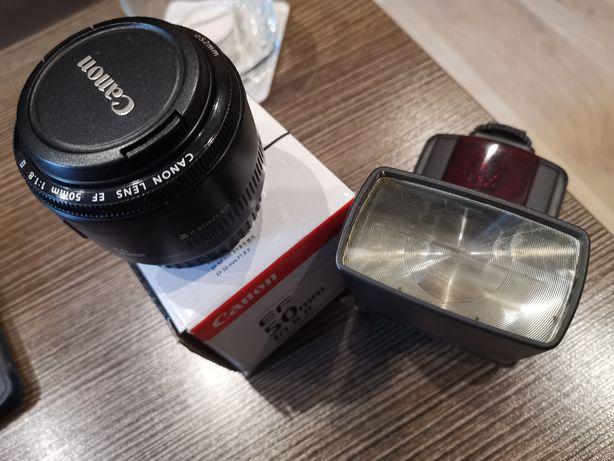 Canon ef 50 f1. 8 plus lampa