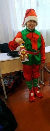 Новогодний костюм гномик эльф