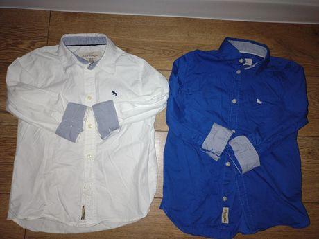 Koszulka HM 2 szt biała niebieska 116 hm