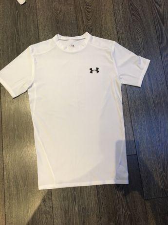 Under armour koszulka biała sportowa Uniseks sport