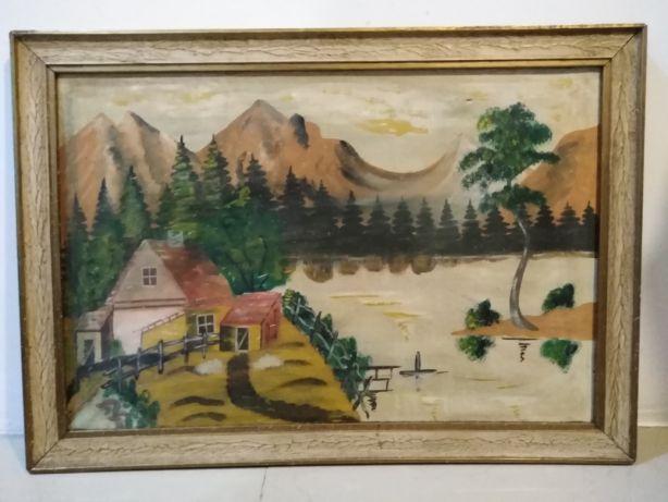 Obraz malowany na płótnie 67/47cm
