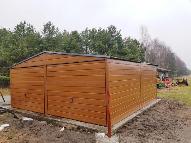 Garaże blaszane na wymiar Drewnopodobne PRODUCENT (profil,wzmocniony,)