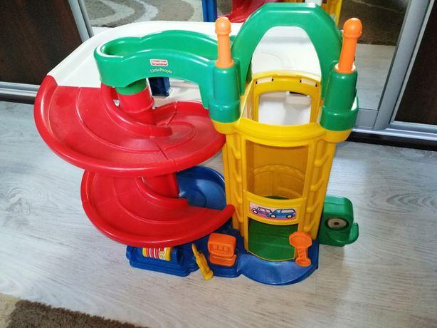 Duży parking garaż Fisher-Price Little People