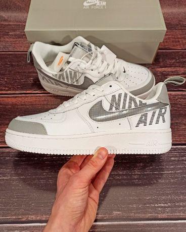 Кожаные Nike Air Force 1 белые мужские кроссовки 42 43 44 45 46 8272