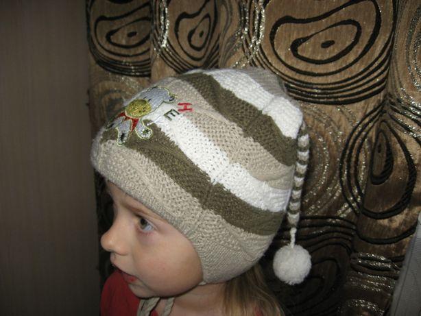Шапка зимняя, шапочка зима теплая 2 - 3 года
