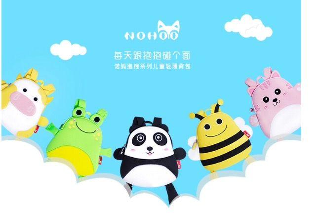 Детский рюкзак Nohoo Панда, Лягушонок и Пчелка