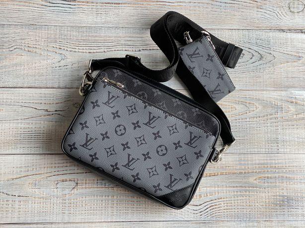 Мужская сумка барсетка Louis Vuitton 3в1